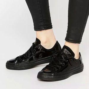 Converse Black Patent Leather Size 8